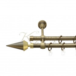 """Карниз для штор """"Генуя"""" металевий подвійний 16+16мм литий"""